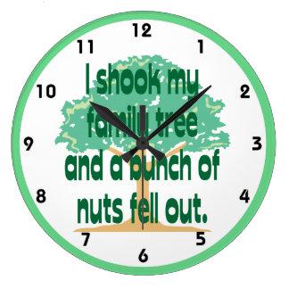 Shook My Family Tree Genealogy Wall Clocks