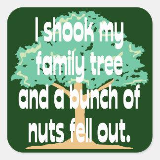Shook My Family Tree Square Sticker