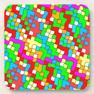 Shool party colorful, drink coaster