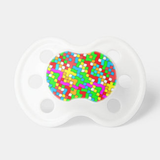 Shool party colorful, pacifier
