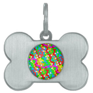 Shool party colorful, pet tag