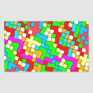 Shool party colorful, rectangle stickers