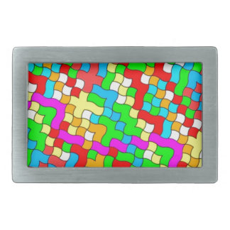 Shool party colorful, rectangular belt buckles