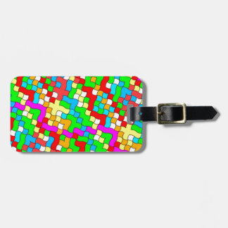 Shool party colorful, travel bag tag