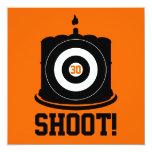 "Shoot! A Hunter Hits 30 - 30th Birthday Invitation 5.25"" Square Invitation Card"