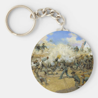 Shoot and Be Dammed by Keith Rocco Basic Round Button Keychain