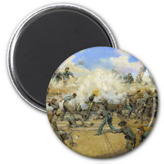 Shoot and Be Dammed by Keith Rocco 2 Inch Round Magnet