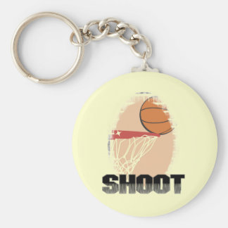 Shoot Basketball T-shirts and Gifts Basic Round Button Keychain