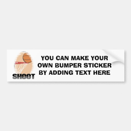 Shoot Basketball T-shirts and Gifts Bumper Sticker
