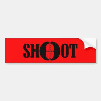 SHOOT BUMPER STICKER