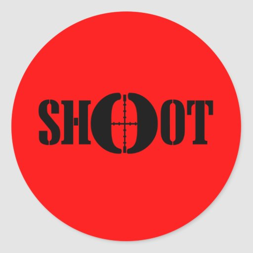 SHOOT CLASSIC ROUND STICKER
