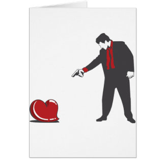 Shoot Down Love Card