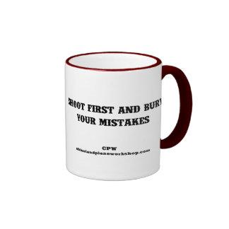 Shoot First Coffee Mugs