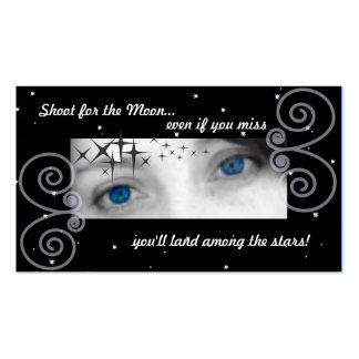 Shoot for the moon, even if you miss you'll land.. Double-Sided standard business cards (Pack of 100)