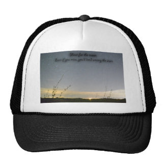Shoot for the moon mesh hats