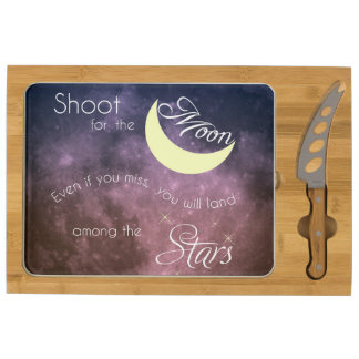 Shoot for the Moon Inspirational Cheese Board