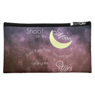Shoot for the Moon Inspirational Cosmetic Bag