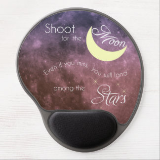 Shoot for the Moon Inspirational Mousepad Gel Mouse Pad