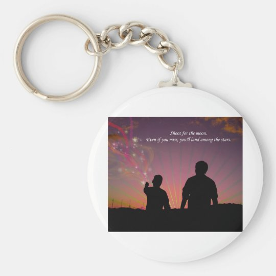 Shoot For The Moon Keychain
