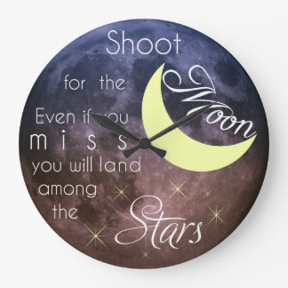 Shoot for the Moon Motivational Clock
