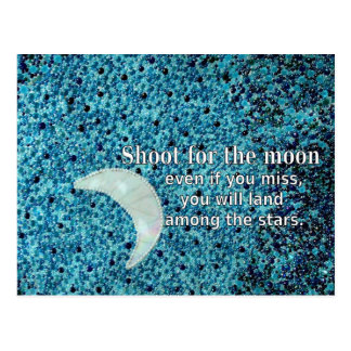 Shoot For The Moon Postcard