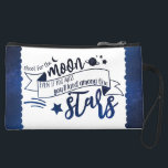 """Shoot for the Moon Suede Wristlet Wallet<br><div class=""""desc"""">""""Shoot for the moon. Even if you miss,  you'll land among the stars."""" It seems to be controversial as to who came up with the quote,  but it's beautiful no matter.</div>"""
