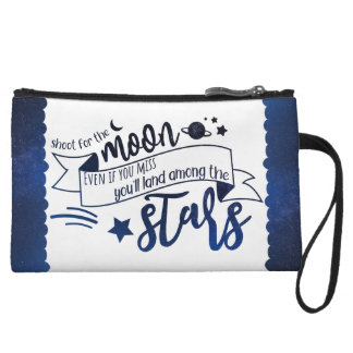 Shoot for the Moon Wristlet Wallet