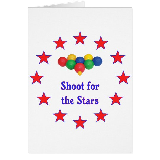 Shoot For The Stars Bocce Ball Card