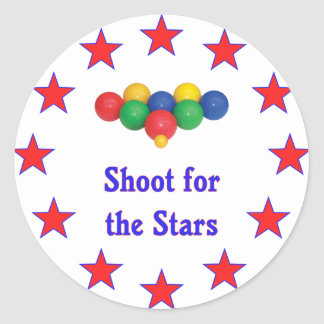 Shoot For The Stars Bocce Ball Classic Round Sticker