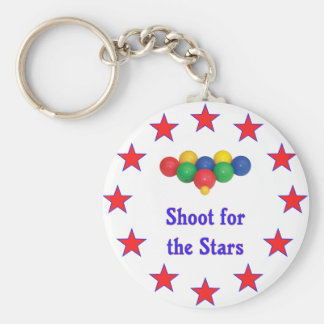 Shoot For The Stars Bocce Ball Keychain