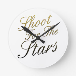 Shoot For The Stars Round Wall Clock