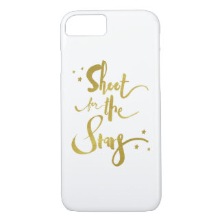 Shoot For The Stars Gold Typography iPhone 8/7 Case