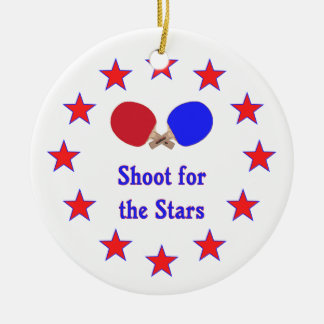 Shoot for the Stars Ping Pong Ceramic Ornament