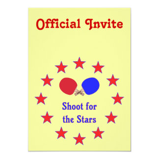 Shoot for the Stars Ping Pong Invite