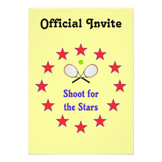Shoot for the Stars Tennis Personalized Invites