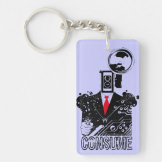 Shoot From The Hip Single-Sided Rectangular Acrylic Keychain