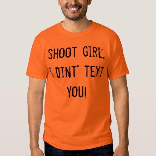 shoot girl tee