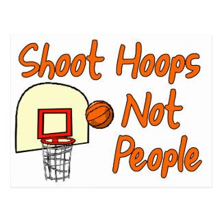 Shoot Hoops Not People Postcard
