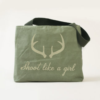 """Shoot Like a Girl"" Antler Bag"