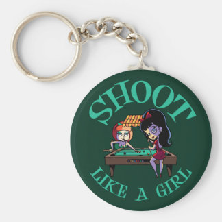 Shoot Like A Girl Basic Round Button Keychain