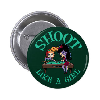 Shoot Like A Girl 2 Inch Round Button