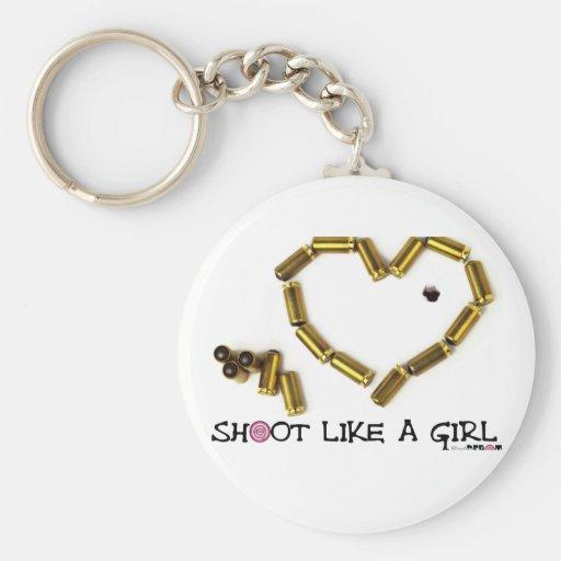 Shoot Like A Girl Key Chains