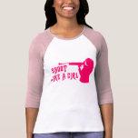 Shoot Like a Girl Pink T-shirt
