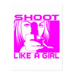 SHOOT LIKE A GIRL POST CARDS