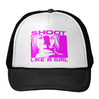 SHOOT LIKE A GIRL TRUCKER HAT