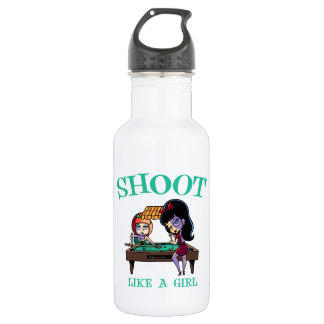 Shoot Like A Girl Water Bottle