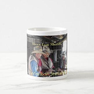 Shoot Low Sheriff, They're Ridin Shetlands Coffee Mug