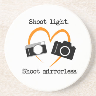 """Shoot Mirrorless"" Coaster for Photographer"