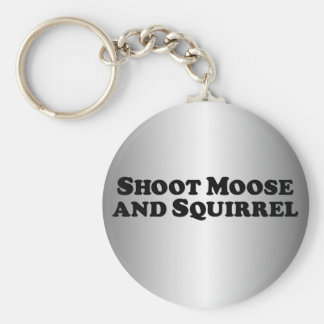 Shoot Moose and Squirrel - Mixed Clothes Keychain