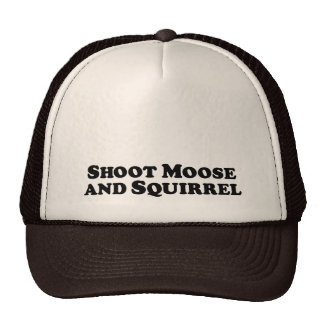 Shoot Moose and Squirrel - Mixed Clothes Trucker Hat
